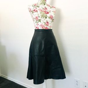 WHBM Faux Leather Skirt